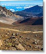 The Summit Of Haleakala Volcano In Maui. Metal Print