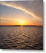 The Sun Coming Up On The Chesapeake Metal Print