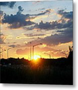 The Sun Goes Down Metal Print by Maurice Smith