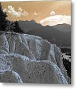 The Sun Let Down  Metal Print