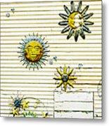 The Sun Moon And Stars Metal Print