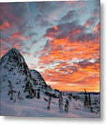 The Sun Rises, Illuminating The Sky Metal Print