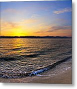 The Sun Rises Over The Red Sea In Egypt Metal Print