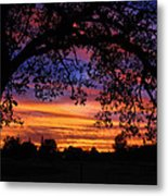 The Sun Sets For Mike Metal Print