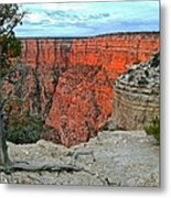 The Sun Shines On The Canyon Metal Print