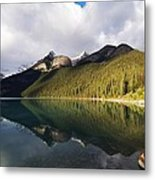 The Sunny Side Of Lake Louise Metal Print