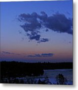 The Sunset Moon In Winter Metal Print