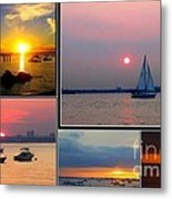 The Sunsets Of Long Island Metal Print