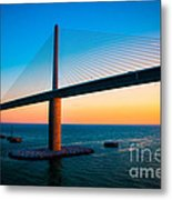 The Sunshine Under The Sunshine Skyway Bridge Metal Print
