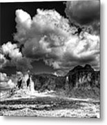 The Superstitions - Black And White  Metal Print