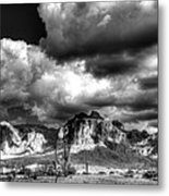 The Supes In Black And White  Metal Print