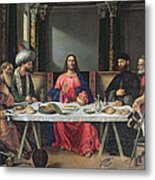 The Supper At Emmaus Metal Print by Vittore Carpaccio
