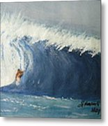 The Surfing Metal Print