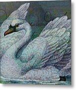 The Swan Also Rises Metal Print