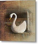 The Swan Planter Metal Print