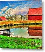 The Swimming Hole Metal Print