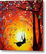 The Swing Original Painting Metal Print