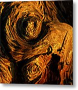 The Swirled Root Metal Print