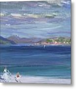 The Tail Of Mull From Iona Metal Print