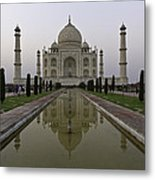 The Taj Mahal In Agra India At Dusk. Metal Print