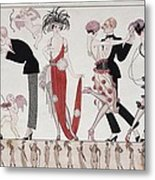 The Tango Metal Print by Georges Barbier