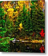 The Tarn Paint Version Metal Print