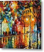 The Tears Of The Fall - Palette Knife Oil Painting On Canvas By Leonid Afremov Metal Print