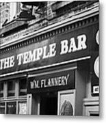 The Temple Bar Pub In Temple Bar Tourist Nightlife Area In Central Dublin Metal Print