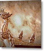 The Temple Dragon Metal Print