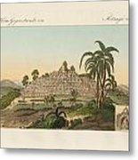 The Temple Of Buddha Of Borobudur In Java Metal Print