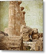 The Temple Of Heracles Metal Print