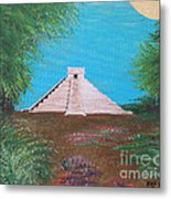 The Temple Of Kukulcan Metal Print