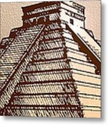 The Temple Of Kukulcan Chichen Itza   Metal Print