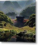 The Temple Of Perpetual Autumn Metal Print