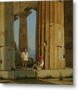The Temple Of Poseidon. Paestum Metal Print
