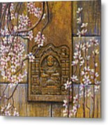 The Temple's Wall Metal Print