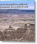 The Temptation Of Jesus Hebrews 2 18 Metal Print