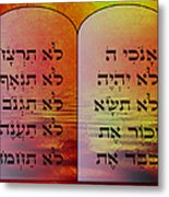 The Ten Commandments - Featured In Comfortable Art Group Metal Print
