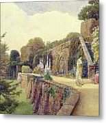 The Terrace At Berkeley Castle Metal Print