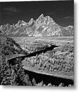 309217-the Teton Range From Snake River Overlook Metal Print