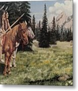 The Tetons Early Tribes Metal Print
