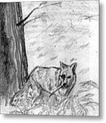 The Teutonic Fox Metal Print