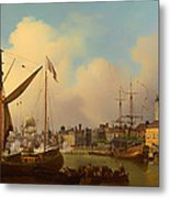 The Thames And Tower Of London On The King's Birthday Metal Print