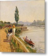 The Thames At Hampton Court Metal Print
