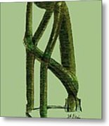 The Thinker   Number 10 Metal Print