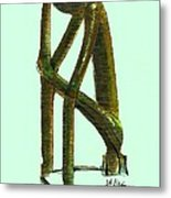 The Thinker  Number 2 Metal Print