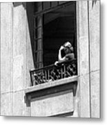 The Thinker - Sao Paulo Metal Print