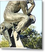 The Thinker Cleveland Art Statue Metal Print