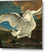 The Threatened Swan Metal Print