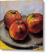 The Three Apples Metal Print